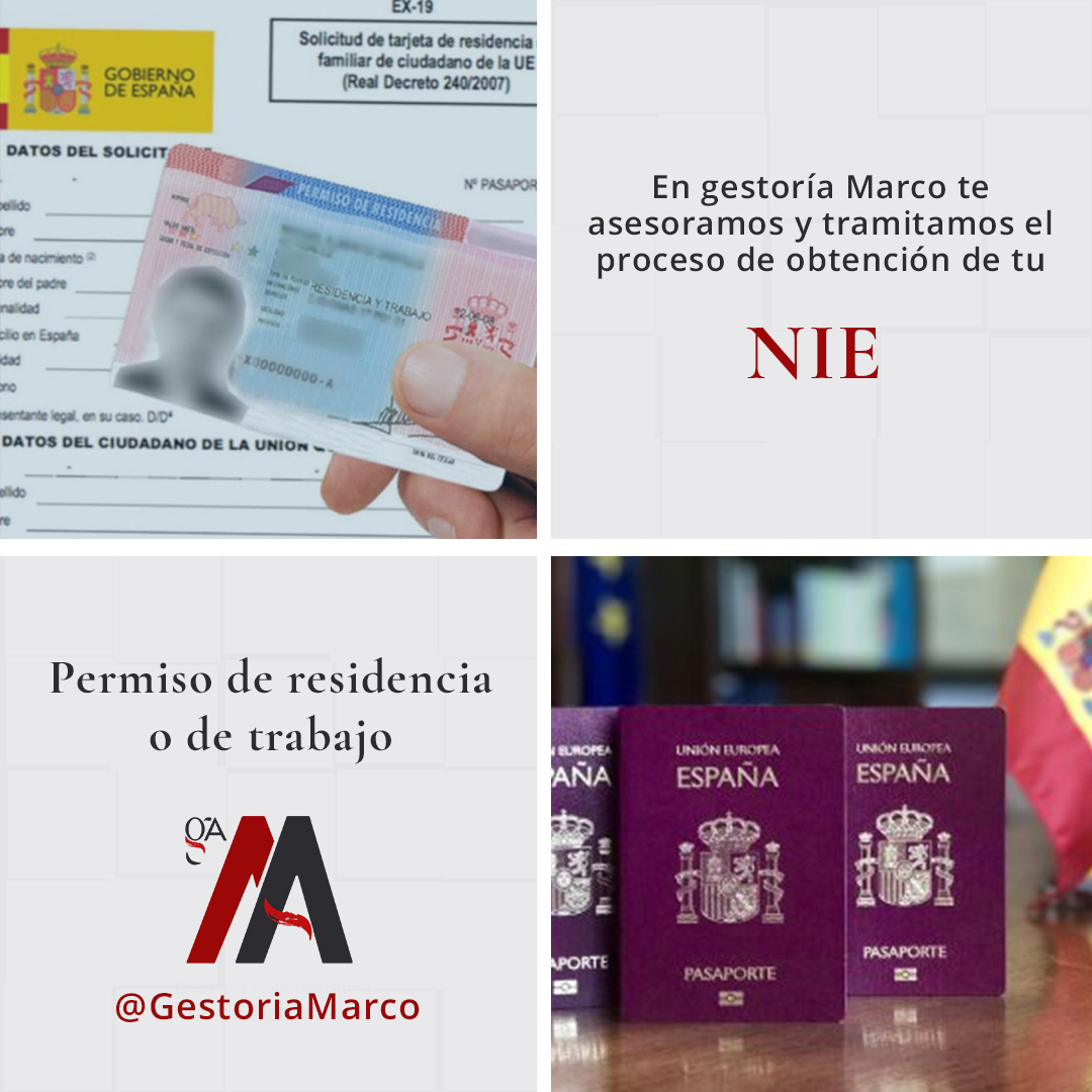 Obtención NIE y Permiso de residencia y trabajo